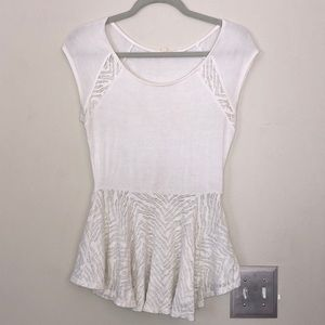 Silence+Noise white peplum lace top